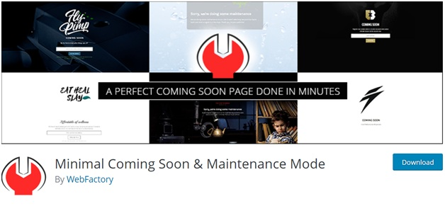 Minimal Coming Soon & Maintenance